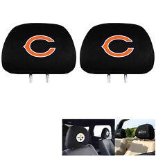 New Team ProMark NFL Chicago Bears Head Rest Covers For Car Truck Suv Van
