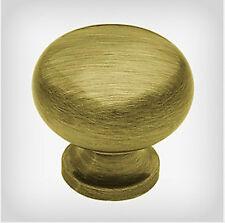 """P50156-AB Antique Brass 1 1/4"""" Round Cabinet Drawer Knob  4 Pack"""