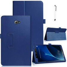 For Samsung Galaxy Tab A A6 10.1 SM-T580 T585 Leather Smart Case Cover Dark Blue