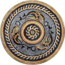 Nautical Medallion Design Mosaic Stone Art Marine Life&Nautical Mosaic Tile