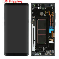 Black For Samsung Galaxy Note8 N950 LCD Display Digitizer Screen Frame Dot SBI