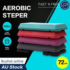 72cm Aerobic Step Exercise Stepper Gym Riser Workout Fitness Cardio Bench Block