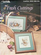 Fresh Cuttings Cross Stitch Pattern Leisure Arts 553 Vintage Vaughan 1987 Eleven
