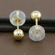 Genuine 18CT Yellow Gold Ball Studs Earrings 4mm - 1 Pair