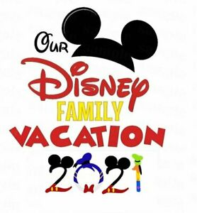 *******OUR DISNEY FAMILY VACATION 2021********* *FABRIC/T-SHIRT IRON ON TRANSFER