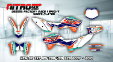 NitroMX Graphic Kit for KTM SX SXF 125 250 350 450 525 2007 2008 2009 2010 MX