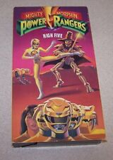 MIGHTY MORPHIN POWER RANGERS HIGH FIVE  VHS UPC 044008812333