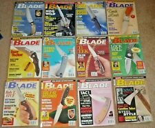 12 Blade Magazines Knives Complete Year 2000 Volume 27 (Xxvii) Issue #1-12