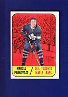 Marcel Pronovost HOF 1967-68 TOPPS Hockey #81 (VGEX+) Toronto Maple Leafs