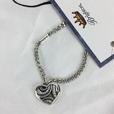 Brighton Crystal Heart Necklace on Card LOVE Charm
