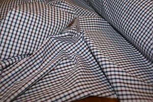 2.5m x 1.5m wide 'BLUE GINGHAM CHECK' 100% COTTON Woven Fabric, Light Weight
