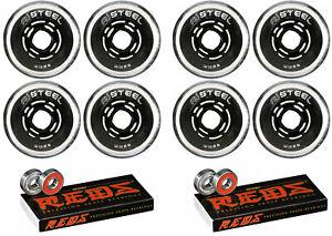 Revision Wheels Inline Roller Hockey Variant Steel 80A + Bones Bearings (8-Pack)