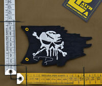"Ricamata / Embroidered Patch ""Destroyed Pirate Flag"" with VELCRO® brand hook"