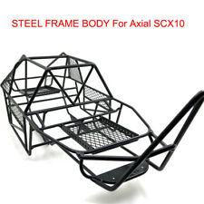 Steel Frame Body Roll Cage Chassis Black For Axial SCX10 1/10 RC Crawler Truck