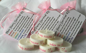 Hen Party Survival Kit - pre FILLED Bag, bargain with free personalised candle