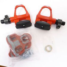 mr-ride 2014 Wellgo QRD-R096B Road Bike Pedals - Clipless  with Cleat - Red