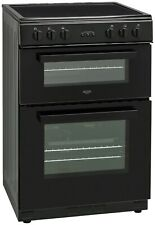 Bush BDBL60ELB 60cm Free Standing Double Electric Cooker - Black