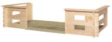 Gartenhaus Terrasse BUGSPRIET in 28 mm 3,00 x 1,50m Holz Blockbohlen