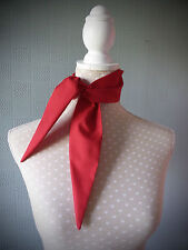 Red cotton rockabilly scarf retro vintage style scarf fifties tie 40's scarf tie
