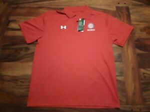 UNDER ARMOUR CHICAGO CUBS Security Red Polo Shirt- Mens Size XL - NEW