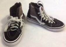 Kid's Vans Sk8 Hi Sneakers Sz 2 Gray Black High Top Shoes Skater Skateboarding