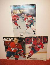 1970's NHL Minnesota North Stars Hockey Programs vs Montreal Canadiens Lafleur