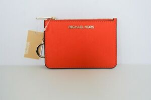Michael Kors Jet Set Travel S TZ Coin Pouch with ID Key Holder Wallet $118