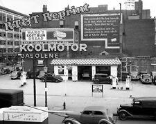 Photograph Vintage Koolmotors Gas Station Cleveland, Ohio 1937  8x10