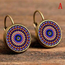 a9e769424 Elegant Round Stud Ear Vintage Women Girls Lady Crystal Flower Hoop Earrings  BS