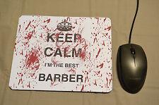 Barber Keep Calm Stampato Mouse Pad Scrivania Arredamento PC REGALO DI COMPLEANNO LAUREA Job
