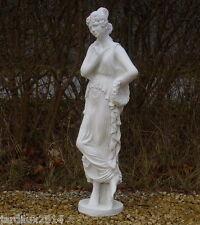 Statue Gracia en pierre reconstituée, ton pierre blanche