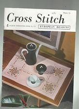 Revista De Punto De Cruz 1965 # 570 europeo-Cojín sueco-Swiss Mantel