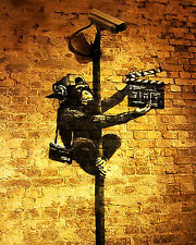 Banksy Monkey Director graffiti street art 16 x 20 flat Canvas Print Venne