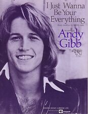 BRAND NEW MINT UK SHEET MUSIC ANDY GIBB I JUST WANT TO BE UR EVERYTHING BEE GEES