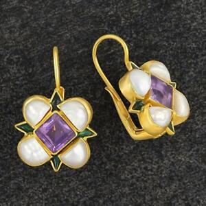 Ariel Amethyst and Pearl Earrings: Museum of Jewelry