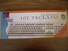 Portugese Brazilian Keyboard Teclado PS/2 PS2 Connector Brazil Portugal Win DOS