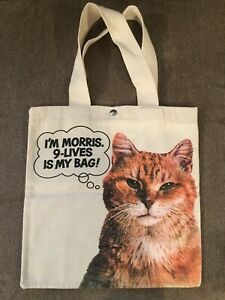Vintage Morris the Cat 9-Lives Canvas Tote Bag - NEW, MINT CONDITION