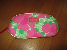 New Lilly Pulitzer for Estee Lauder Pink Green Floral Cosmetic Case