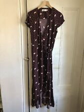 And Other Stories Purple Print Wrap Dress Size 8
