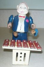 VINTAGE CELLULOID/TIN WIND-UP TOY XYLOPHONE PLAYER- Made in Occupied Japan WORKS