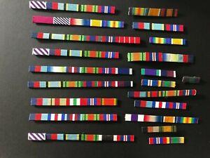 small selection of medal ribbon bars.