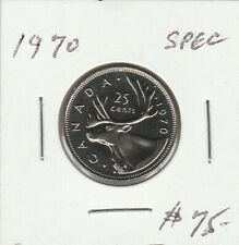 Canada 1970 25 Cents Specimen