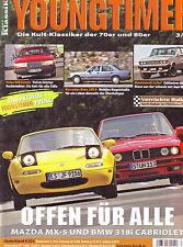 Youngtimer 3/08 Mazda MX 5/BMW 318i Cabrio E30 /Mercedes 200 D W124/Volvo 940 Ko