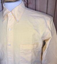 Vintage USA Made BROOKS BROTHERS Cotton Dress Shirt Sz 15 - 32 Yellow Oxford