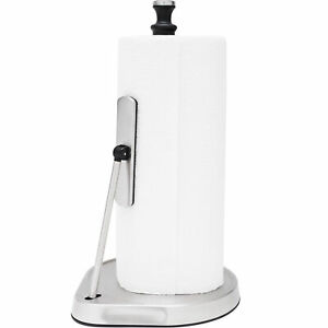 ELITRA Home One-Handed Easy Tear Paper Towel Holder, Stainless Steel - Silver