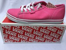 VANS Ferris Lo Pro SHOES pink white poolka dot UK 4.5 Brand New Trainers Shoes