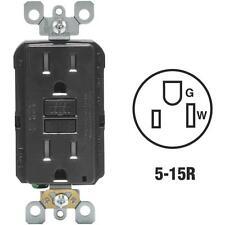 Leviton Self-Test 15A Black 3-wire 5-15R GFCI Electric Outlet R95-GFTR1-0KE