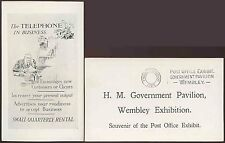 GB 1925 WEMBLEY EXHIBITION PPC POST OFFICE GOVT.PAVILION + SLOGAN CANCEL MACHINE