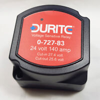 0-727-83 24V 140A 140 AMP DURITE SPLIT CHARGE VOLTAGE SENSITIVE RELAY - CAMPERS