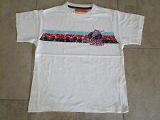 STACCATO T-Shirt Gr. 116/122 weiß mit Frontmotiv - reine Baumwolle